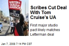 Scribes Cut Deal With Tom Cruise's UA