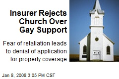 Insurer Rejects Church Over Gay Support