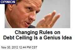 Changing Rules on Debt Ceiling Is a Genius Idea