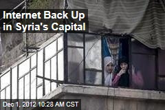 Internet Back Up in Syria's Capital