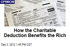 How the Charitable Deduction Benefits the Rich