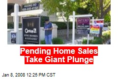 Pending Home Sales Take Giant Plunge