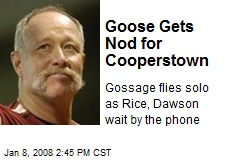 Goose Gets Nod for Cooperstown