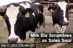 Sales Crisis Shakes Milk Biz