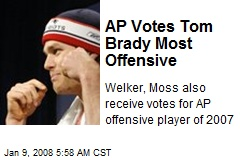 AP Votes Tom Brady Most Offensive