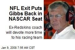 NFL Exit Puts Gibbs Back in NASCAR Seat