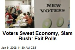 Voters Sweat Economy, Slam Bush: Exit Polls