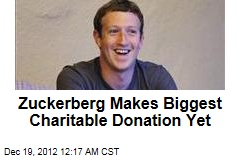 Zuckerberg Gives $500M to Health, Education Charity