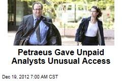 Petraeus Gave GOP Advisers Questionable Access