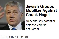 Jewish Groups Mobilize Against Chuck Hagel