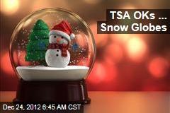 TSA OKs ... Snow Globes