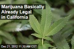 Marijuana Basically Already Legal in California