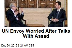 UN Envoy Worried After Talks With Assad
