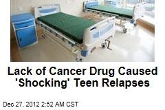 Drug Shortage Blamed in Teen Cancer Relapses