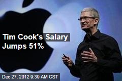 Tim Cook's Salary Jumps 51%