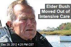 Elder Bush Moved Out of Intensive Care