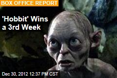 'Hobbit' Wins a 3rd Week