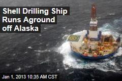 Shell Drilling Ship Runs Aground off Alaska