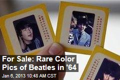 For Sale: Rare Color Pics of Beatles in '64