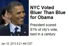 NYC Voted Bluer Than Blue for Obama