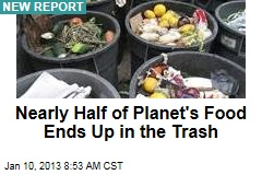 Nearly Half of Planet's Food Ends Up in the Trash