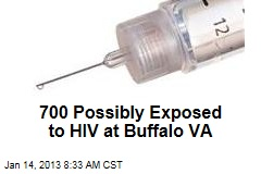 700 Possibly Exposed to HIV at Buffalo VA