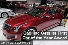 Cadillac Gets Its First Car of the Year Award
