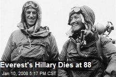 Everest's Hillary Dies at 88