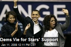 Dems Vie for Stars' Support
