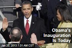 Obama's Inauguration Is Today