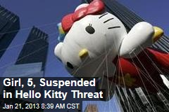 Girl, 5, Suspended in Hello Kitty Threat