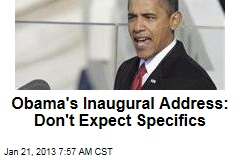 Obama's Inaugural Address: 'Hopeful,' Short on Specifics