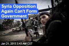 Syria Opposition Again Can't Form Govt