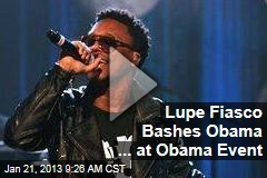 Lupe Fiasco Bashes Obama ... at Obama Event