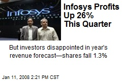Infosys Profits Up 26% This Quarter