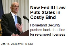 New Fed ID Law Puts States in Costly Bind
