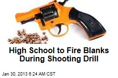 High School Shooting Blanks in 'Code Red' Drill