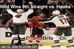 Wild Wins 9th Straight vs. Hawks