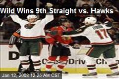 Wild Wins 9th Straight vs. Hawks