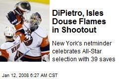 DiPietro, Isles Douse Flames in Shootout
