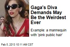 Gaga's Diva Demands May Be the Weirdest Ever