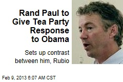 Rand Paul to Give Tea Party Response to Obama