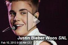 Justin Bieber Woos SNL