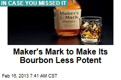 Amid Global Demand, Maker's Mark Gets Watered Down