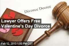 Lawyer Offers Free Valentine's Day Divorce