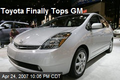 Toyota Finally Tops GM