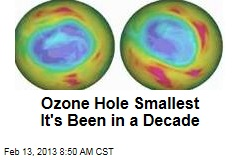Ozone Hole Smallest It's Been in a Decade