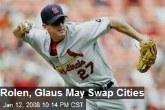 Rolen, Glaus May Swap Cities