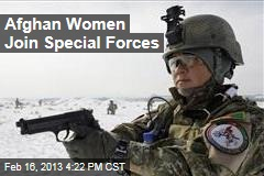Afghan Women Join Special Forces