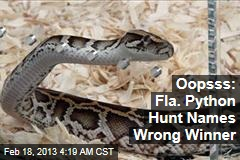 Oopsss: Python Hunt Names Wrong Winner
